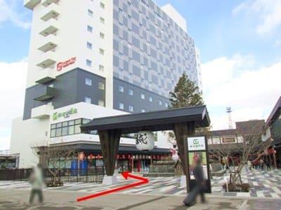 ローソン函館駅前店への行き方