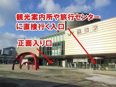 函館駅の観光案内所入口