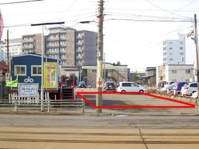 函館ブルートレインの駐車場