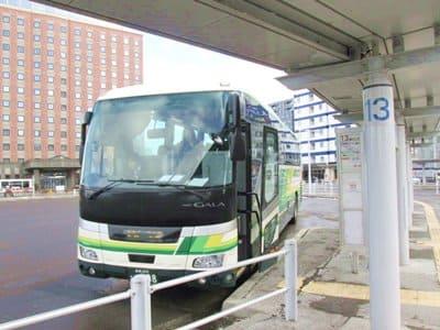函館から札幌に向かう高速バス