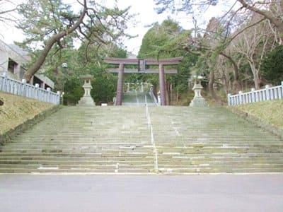 函館八幡宮の石段