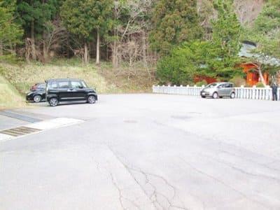 函館八幡宮の駐車場