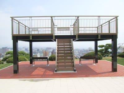 元町配水場内に設置されている物見台
